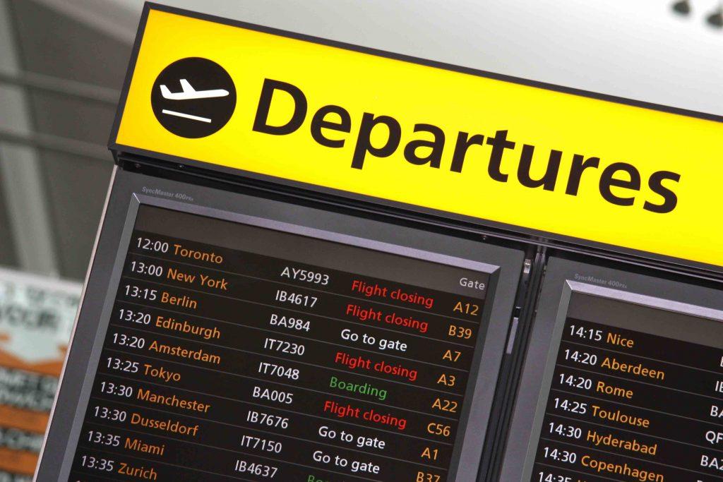 Heathrow Departures Table