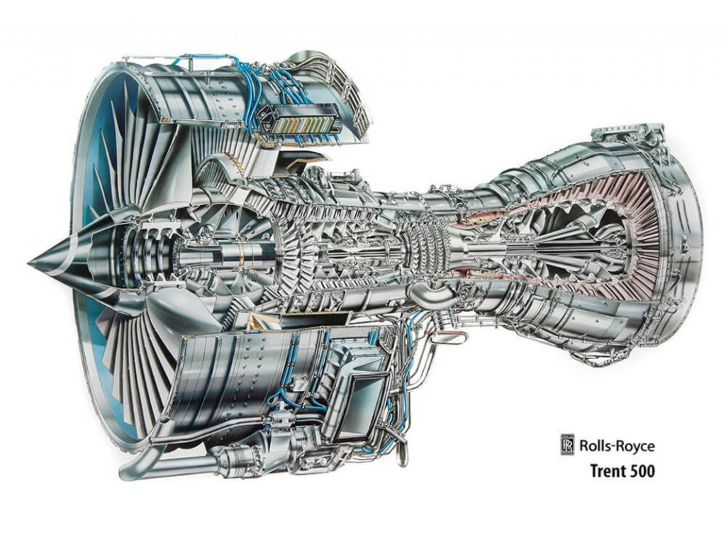 Trent 500 (Rolls Royce)for airbus 340-600 y 500